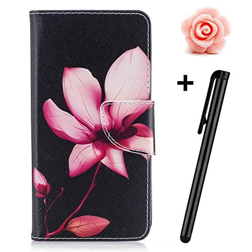 Samsung Galaxy J5 2017 Case(Europe Version) Flip Wallet Case,Samsung Galaxy J5 2017 Leather Case,TOYYM Book Style Ultra Slim PU Leather Flip Cover Wallet Case with Cash&Card Slots Stand Credit Card Holder Function Magnetic Closure,3D Creative Flower Animal Pattern Design Folio Full Body Protection Case Cover for Samsung Galaxy J5 2017 SM-J530(Pink Lotus) Test
