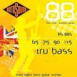 Rotosound Schwarze Nylonsaiten für E-Bass, Flachdraht, Standardstärke 65 75 90 115