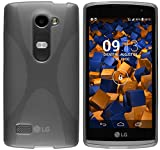 mumbi Hülle kompatibel mit LG Leon Handy Case Handyhülle, transparent schwarz
