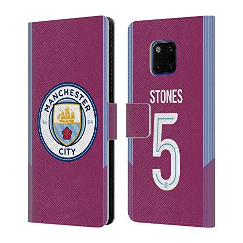 Head Case Designs Offizielle Manchester City Man City FC John Stones 2017/18 Spieler Away Kit Gruppe 2 Brieftasche Handyhülle aus Leder für Huawei Mate 20 Pro -
