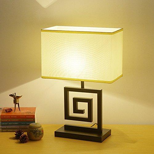 Aike moderno orientale lampada da tavolo in ferro battuto classica con paralume in tessuto per l'hotel soggiorno lampada decorativa scrivania