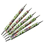 GS-Nails 5 x Doppel Spot Swirl Dotting Tool Marmorierwerkzeug Blumenmuster