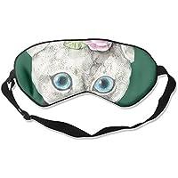 Comfortable Sleep Eyes Masks Cat Wearing Clothes Pattern Sleeping Mask For Travelling, Night Noon Nap, Mediation... preisvergleich bei billige-tabletten.eu