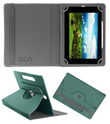 Acm Designer Rotating Leather Flip Case for Zync Quad 7i Cover Stand Turquoise  available at amazon for Rs.169