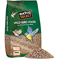 Extra Select Sunflower Hearts Wild Bird Food, 20 kg