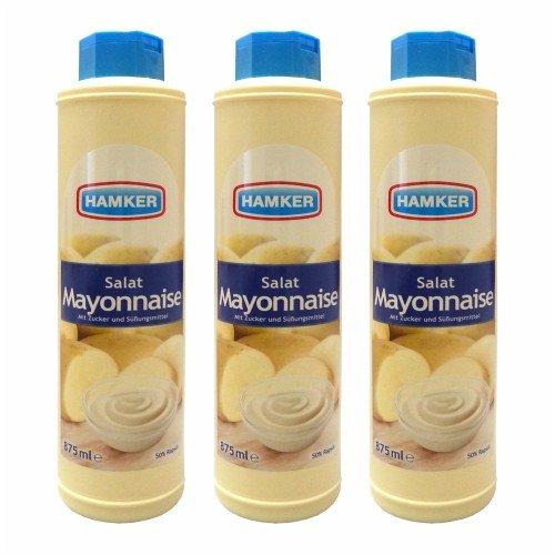 3x Hamker 'Salat Mayonnaise', 875 ml