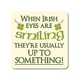 Carrolls Irish Gifts 'Irlandese sottobicchieri con la Scritta in Inglese Irlandese Occhi