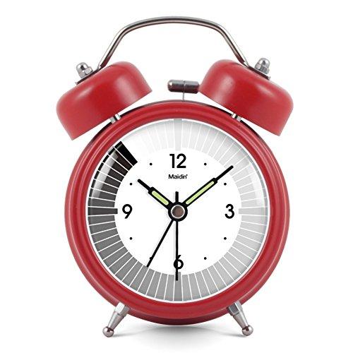 Mute Fashion Glocke Wecker/Doppelglocke Licht Alarm/Einfacher Und Kreativer Wecker-Rot