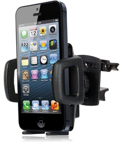Wicked Chili Lüftungshalterung für Apple iPhone SE/5S/5C/5/4/4S/3Gs/3G, iPod Touch 5, 4, 3, 2 Lüfter Halterung (Made in Germany, für Bumper & Case) (Halter Ipod Arbeiten Für Touch)