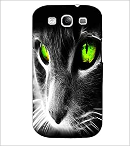 PrintDhaba Digital Cat D-2126 Back Case Cover for SAMSUNG GALAXY S3 (Multi-Coloured)