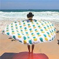 Bureze Ananas Motif de plage Écharpe Châle de bain Spa Serviette de bain pour épais tapis