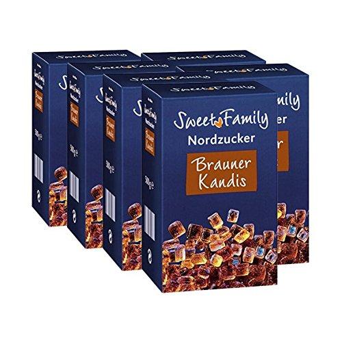 Sweet Family Brauner Kandis, 500g 6er Pack