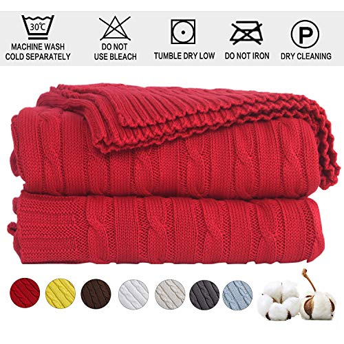 Shaddock Manta de Punto de 100% algodón