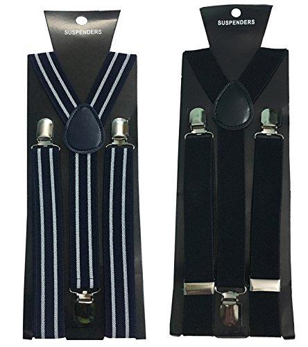 Atyourdoor Y- Back Suspenders for Men(Bline & Black Color)