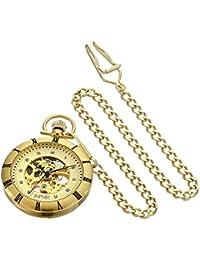 August Steiner Hombre Analógico Pantalla automático viento reloj, color dorado