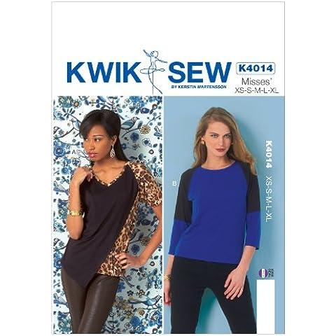 McCall Pattern Company K4014 Kwik Sew - Cartamodelli per top da ragazze, taglie XS, S, M, L, XL, confezione da 1, colore: Multicolore