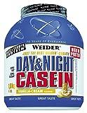 Weider Day & Night Proteine della Caseina, Sapore Vaniglia - 1.8 kg