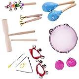 Gazechimp Set de 8 Piezas Juguete de Instrumentos de Percusión Juguete de Aprendizaje Temprano para Niños