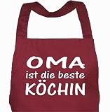 Schürze OMA ist die beste KÖCHIN bordeaux / Grillschürze, Kochschürze, Küchenschürze, Latzschürze