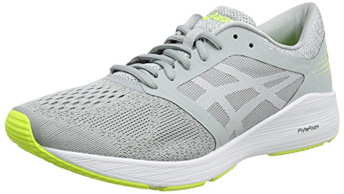 ASICS Roadhawk FF, Scarpe Running Uomo, Grigio (Mid Grey/White/Safety Yellow 9601), 42.5 EU