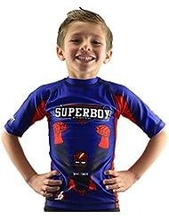 Bõa Superboy Camiseta, Niño, Azul, 12 Años