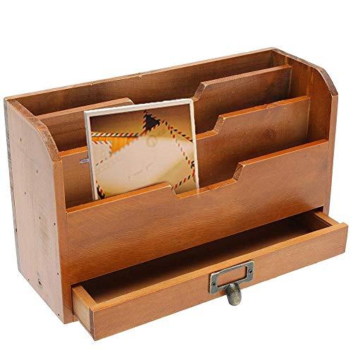 winnerruby Porta Documenti in Legno per Ufficio | Portaoggetti per Organizer per scrivania | Grid Card Organizer per Forniture Desktop