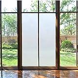 havalime Premium Fensterfolie, Sichtschutz, Milchglas, matt Satiniert, Statische Folie, selbsthaftend ohne Klebstoff, bietet UV-Schutz, Privatsphäre (200 x 90 cm vollflächig)