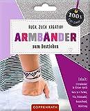 Ruck, zuck kreativ! Armbänder zum Besticken: Armbänder in Glitzer-Optik - silber (100% selbst...