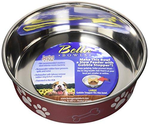 LOVING PETS 1771 Bella Schüssel Dog Bowl, L, 1.5 Liter, Merlot -