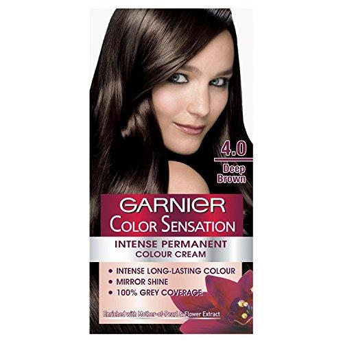 Garnier Color Sensation Intense Permanent Colour Cream 4.0 Deep Brown
