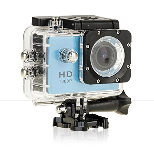 Lagfly Blue 8 MP HD 1080P DV Sports Action Camera Waterproof up to 30 Mtr