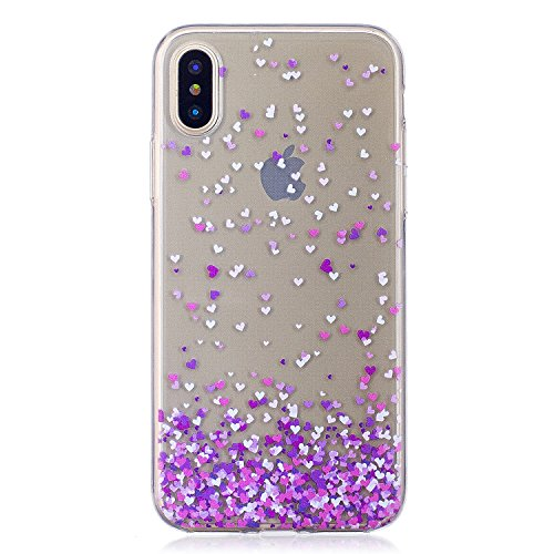 "Coque pour Apple iPhone X , IJIA Transparent Pissenlit Petite Fille TPU Doux Housse Silicone Case Bumper Cover Shell Etui pour Apple iPhone X (5.8"") HX23"