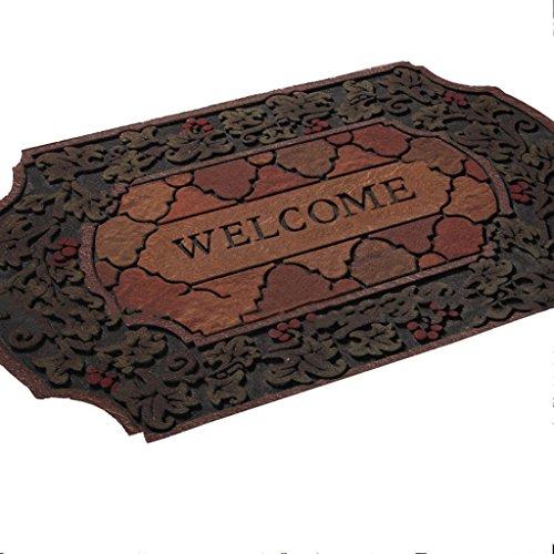 Gxf1222an der Tür der Reifen Material Mats Mats Mats Haushalt Fußmatten Wasserdicht Staub Fußmatten europäischen 1cm Villa Mats Robust Atmosphäre Matte