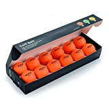 Chastep Practice Golf Balls, Indoor/Outdoor, Limited Flight, High Density Foam Ball 12 Count, Orange