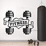 yaoxingfu Love Fitness Wandtattoo Hantel Fitness Wandtattoo Tapeten Gym Logo Wanddekoration...