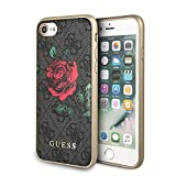 CG MOBILE Guess Coque Rigide en Cuir PU avec Roses pour iPhone 8 et iPhone 7 Motif...