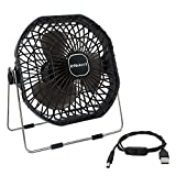 Ventilador USB, Helect 18cm Mini, Ventilador de Mesa USB Fan