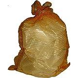 10 Stück Raschelsäcke 51cm x 80cm Kartoffelsack, Aufbewahrung für Obst und Gemüse