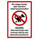 Schild Hunde Kacken verboten | Kein Hundeklo | Hundekot Schild | Hunde Verbotsschilder | Hundeschilder |20 x 30 cm Kunststoff