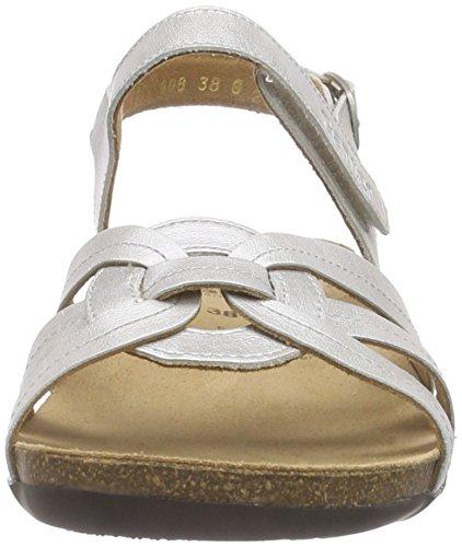 Ganter GIULIA, Weite G Damen Offene Sandalen Silber (champagn 0900)