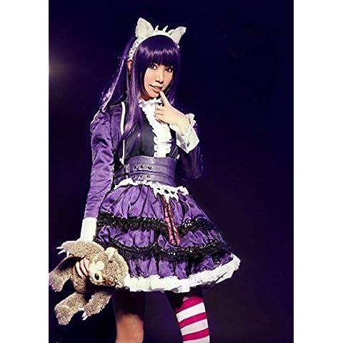 Vivian Lol Champions Annie Cosplay Disfraz Fancy vestido lolita Cos Ropa Calcetines,Tamaño S:150-160
