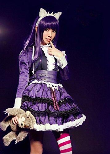 Vivian Lol Champions Annie Cosplay Kostüme Fancy Lolita Kleid Cos Kleidung Socken(kann angepasst werden),Größe S:(150-160 CM)