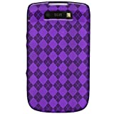 Amzer 89246 Luxe Argyle Coque en TPU pour Black Berry Torch 9800 Violet (Import Royaume Uni)