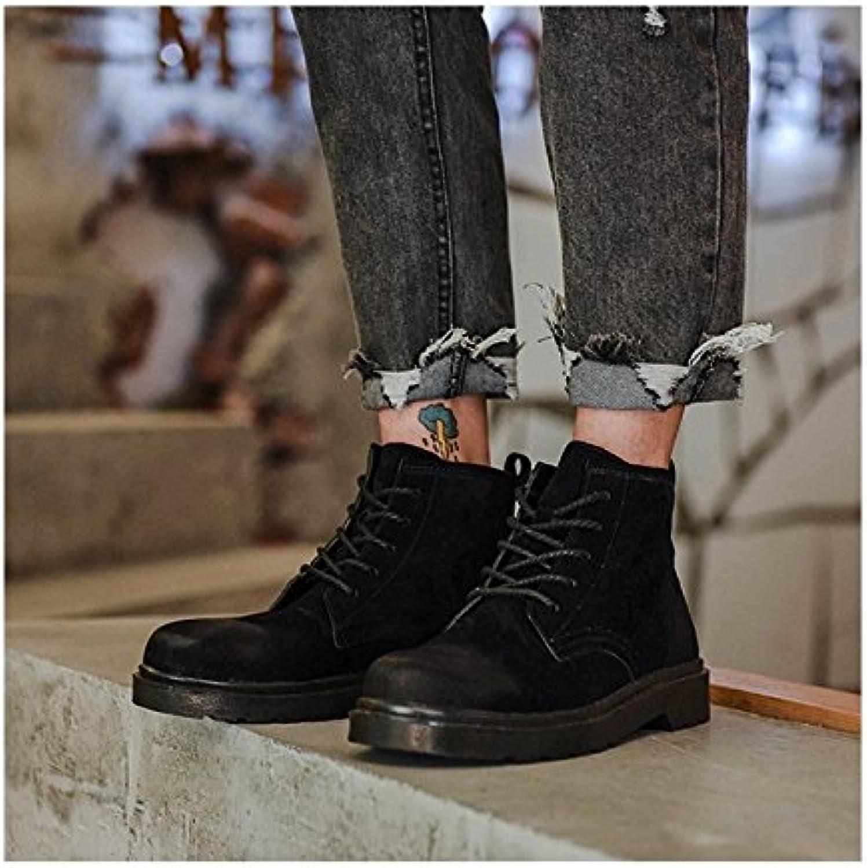 HL-PYL-las nuevas botas botas macho Retro Coreano Martin botas botas altas educadores varones,41,negro