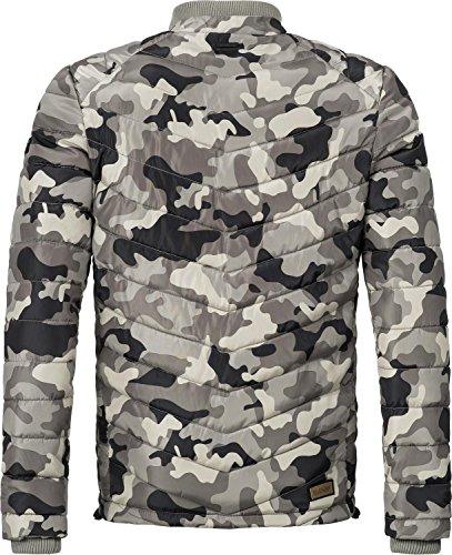 Marikoo Herren Übergangsjacke Steppjacke Gartoso (vegan hergestellt) 7 Farben S-3XL Army Grey