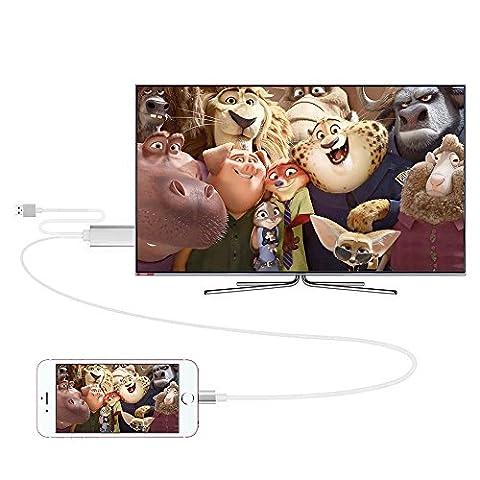 Câble Adaptateur Lightning vers HDMI/HDTV AV TV Pour Apple iPhone 5 5 C 5S 6 6S 6 Plus