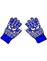 Finger Handschuhe Mädchen Warm Arm Schnee Muster Stricken Für Frauen Lange Geschenk Winter Bekleidung Zubehör Armstulpen