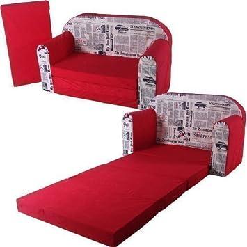 Schlafsofa 100x172cm Sofa Motiv Kinder Klappmatratze Gästebett Bettsessel  Faltmatratze (Farbdesign2)