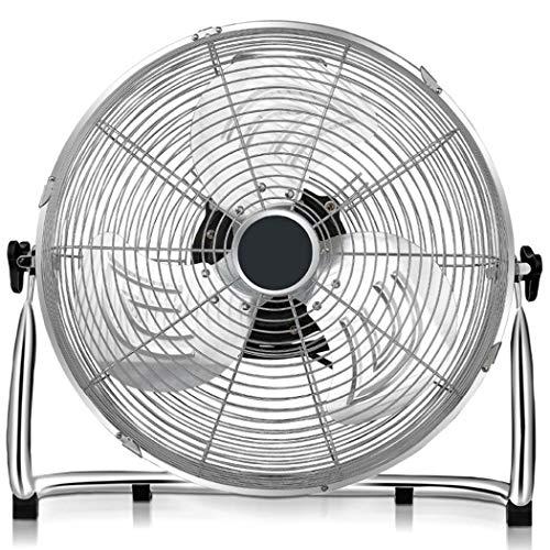 WSHZ Ventilatore da Pavimento Velocity, Ventilatore da Pavimento Piccolo, Ventilatore da 12'3 velocità oscillante per l'home Office, per Viaggi in Campeggio all'uragano,10inch,3speedwind