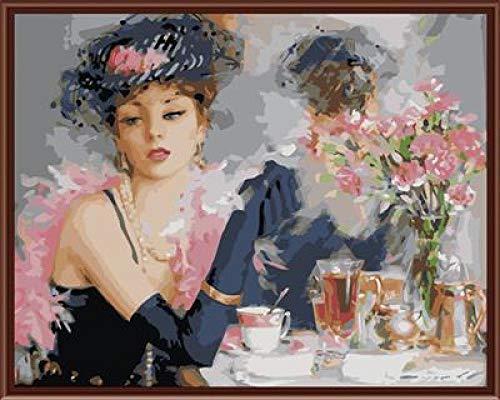 SiJOO 4050 digital DIY handgemaltes Öl Gerahmte Digitale schöne Braut -